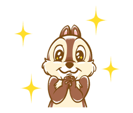 Chip 'n' Dale Fluffy Di chuyển Stickers 23