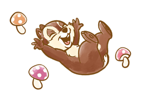 Chip 'n' Dale Fluffy Di chuyển Stickers 19