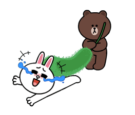 Brown and Cony Fun Size Pack Stickers