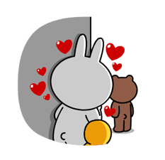 Brown & Cony's Heaps of Hearts! Stickers 19