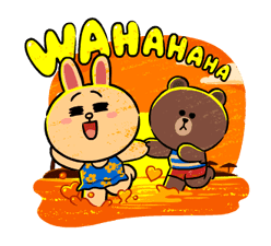 Brown & Cony in Love Stickere 19