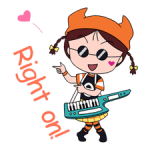 Chibi Maruko Chan: Rock 'n' Roll klistremerker 2