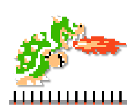 Super Mario Bros. 8-bit Stickers 2