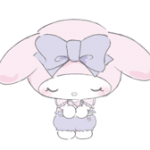 Larme My Melody Stickers x 2
