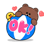 Brown & Cony in Love Stickers 2