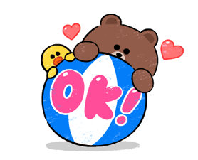 Brown & Cony in Love Stickere 2