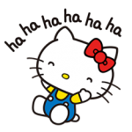 Hello Kitty menerkam Stiker 2