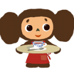 Stickers Cheburashka 1