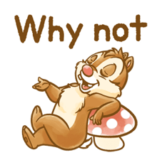 Chip 'n' Dale Fluffy Di chuyển Stickers 20