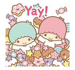 Little Twin Stars Sparkling Stickers 24