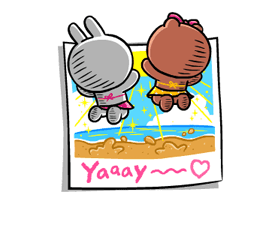 LINE Characters: Cute and Soft Summer Stickers 20