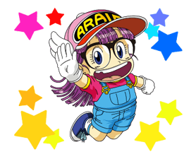 Dr.Slump -Arale Stickers 24
