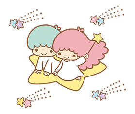 Little Twin Stars Sparkling Stickers 1