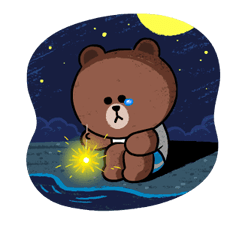 Brown & Cony in Love Stickere 21