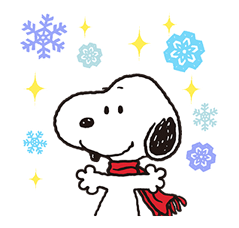 Indah pelekat Winter Snoopy