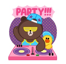 LINE Characters: Party Time Stickers 12