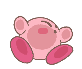 Puffball Sticker Set di Kirby 24