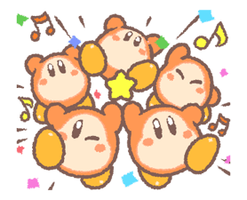 Kirby's Puffball Sticker Set 22