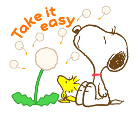 Super Spring Snoopy Stickers 22
