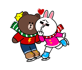 Brown & Cony's Snug Winter Date Stickers