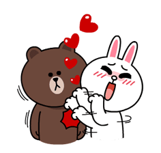 Brown & Cony's Lonely Hearts Date Stickers 22