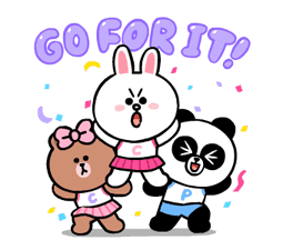 LINE Characters: Cute and Soft Summer Stickers 23