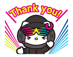 DJ Hello Kitty Stickers 23
