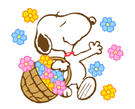 Super Spring Snoopy Stickers