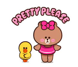 LINE Characters: Pretty Phrases Stickers