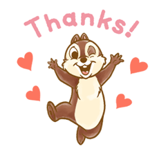 Chip 'n' Dale Fluffy Moves Stickers 3