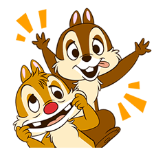 Chip 'n' Dale Stickere 3