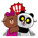 Choco & Pangyo Love Punch Stickere 3
