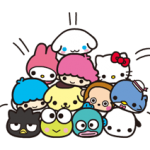 CARACTERE Sanrio × moni moni ANIMALE Stickere 9