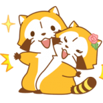 Rascal and Lily: Raccoons in Love Stickers 3