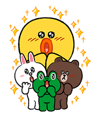 LINE Characters Fun Size Pack Stickers 3