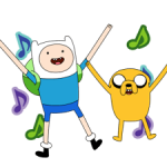Déménagement Adventure Time 2 autocollants 3