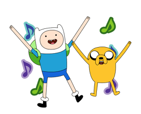 Moving Adventure Time 2 Klistermärken 3