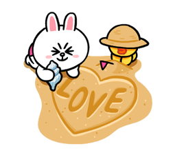 LINE Characters: Cute and Soft Summer Stickers 3