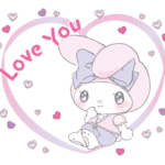 Larme My Melody Stickers x 3