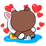 Brown & Cony in Love Stickere 3