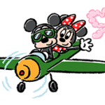 Lovely Mickey dan Minnie pelekat 3