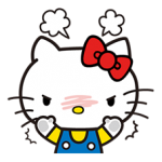 Hello Kitty pouncing pelekat 3