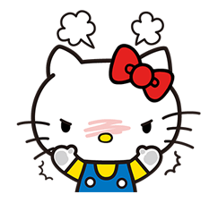 Hello Kitty Pouncing Çıkartma 3