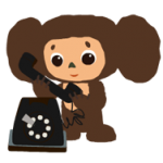 Cheburashka Stickers 2