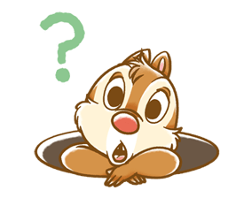 Chip 'n' Dale Fluffy Di chuyển Stickers 4