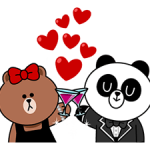 Choco & Pangyo Love Punch Stickere 4