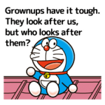 Doraemon a adages matricák 4