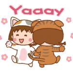 Chibi Maruko-Nyan Aufkleber 4