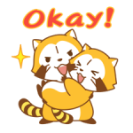 Rascal and Lily: Raccoons in Love Stickers 4