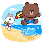 Brown & Cony in Love klistremerker 4